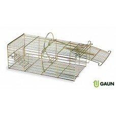 Gaun Multi catch trap for rodents( Rats and Mice) It has 2 doors. When the main one is closed, other rodents can get in through the back door.