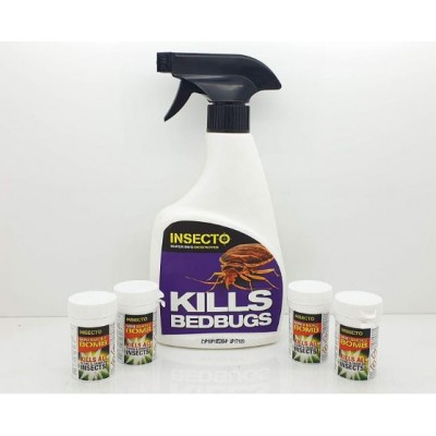 Insecto Bedbug Kit Spray Plus mini Smokers