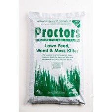 20kg sack of Proctors 3 in 1 Lawn Grass feed weed and moss killer