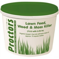 5kg tub of Proctors 3 in 1 Lawn feed weed and moss killer grass fertiliser