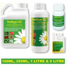PYRETHRUM 5EC ORGANIC INSECT SPRAY FOR CROPS, PLANTS, LICE, MITES, APHIDS 1L
